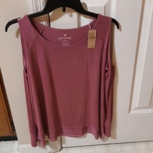 American eagle outfitters cold shoulder shirt